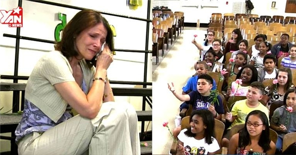 Rơi nước mắt với món quà chia tay cô giáo bị ung thư