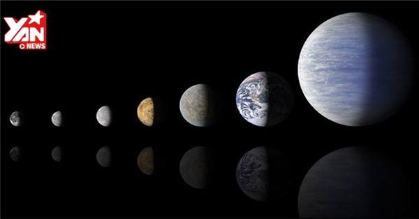 Trái đất nằm ở đâu trên bảng xếp hạng kích cỡ các hành tinh?