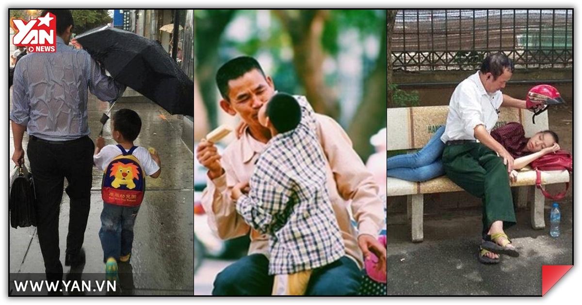Rơi nước mắt với những hình ảnh cảm động về tình yêu của cha