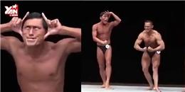 'Cười đau bụng' với màn thi đấu thể hình của diễn viên hài Nhật