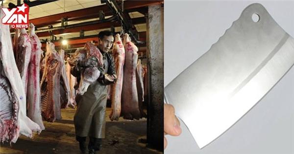 Nổi da gà với công nghệ cắt thịt heo của nước ngoài