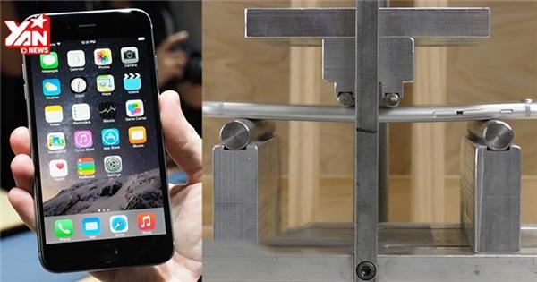 Choáng với thử nghiệm bẻ cong iPhone bằng máy nén cường lực