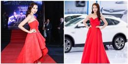 Thanh Hằng, Kỳ Duyên nổi bật với váy đỏ bồng xòe