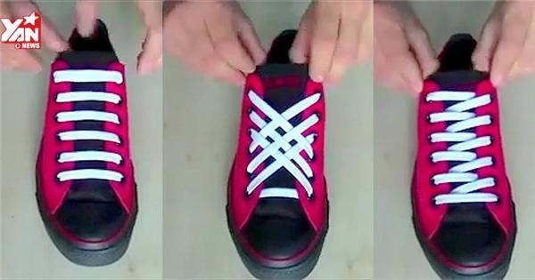 Khoác áo mới cho giày với những kiểu cột dây cực lạ