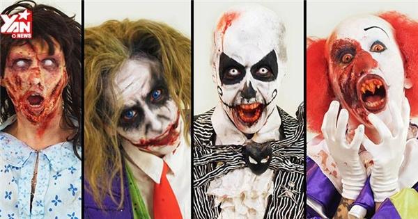 Hãi hùng với các kiểu hoá trang Halloween đáng sợ
