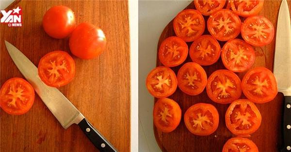 5 cách cắt cà chua siêu nhanh, siêu dễ