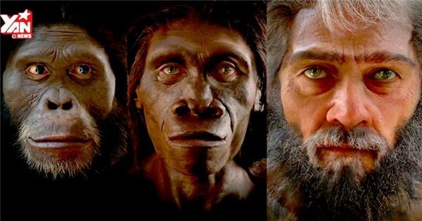 Toàn cảnh sự tiến hóa của loài người trong 2 phút