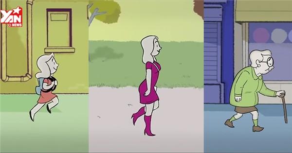 """""""Tua nhanh"""" cuộc đời người phụ nữ trong 4 phút"""