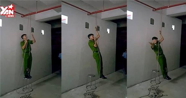 Kĩ năng thoát hiểm từ nhà cao tầng chỉ với một sợi dây
