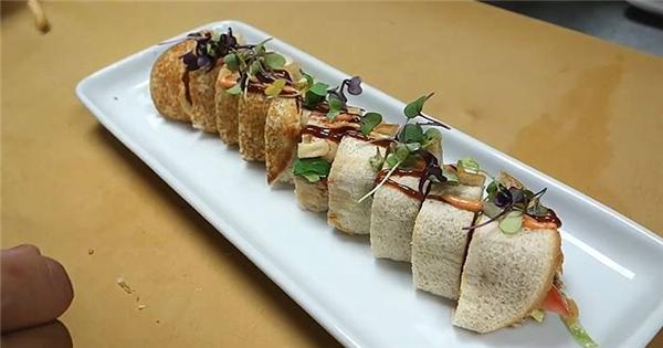 Chảy nước miếng với hamburger phong cách sushi!