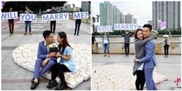 Chàng trai dùng gần 4.500 miếng tã lót cầu hôn bạn gái