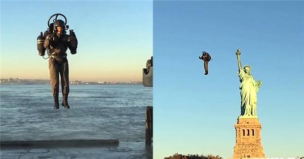 """Lộ diện """"Iron Man"""" thật với bộ đồ bay chinh phục bầu trời"""