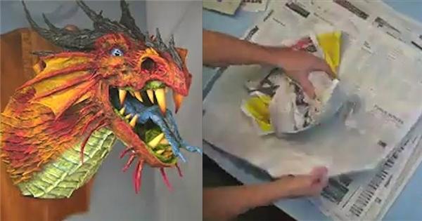 Choáng với rồng giấy 3D cực ảo đẹp y như thật
