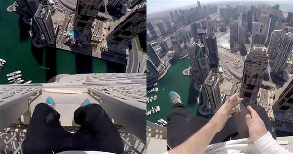 """""""Chóng mặt"""" với thanh niên chuyên đi trên nóc tòa nhà chọc trời"""