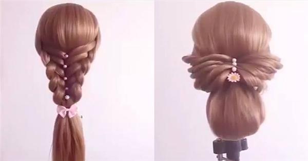 4 kiểu tết tóc trong chưa đầy 3 phút nhìn là yêu