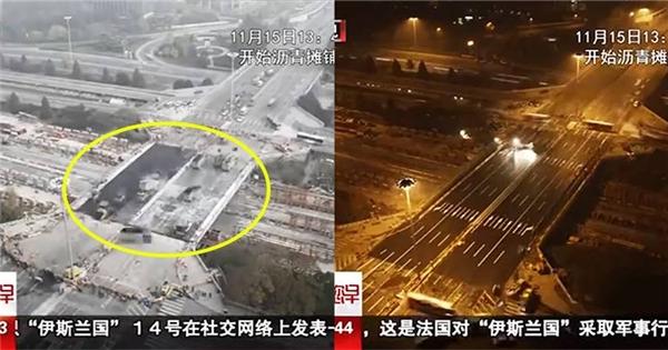 Xem người Trung Quốc nâng cấp cầu vượt chỉ trong 43 giờ