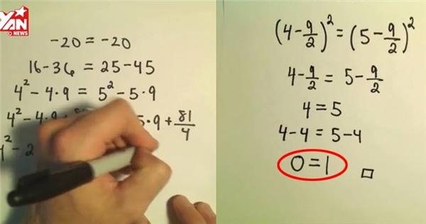 Nhức đầu với phương pháp chứng minh 0 = 1