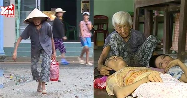 Rơi nước mắt với mẹ già 92 tuổi nuôi 2 con bị bại liệt