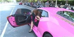 Cô gái xinh đẹp lái siêu xe Lamborghini Huracan màu hồng gây 'bão'
