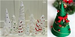 Tự làm cây thông Noel từ len đẹp long lanh