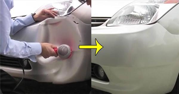 Khắc phục vết móp xe hơi chỉ với... chiếc máy sấy tóc