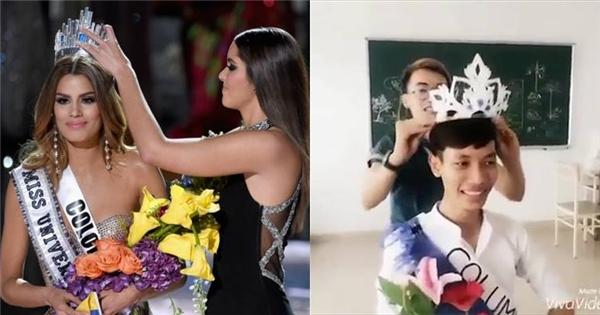 Cười ra nước mắt với màn tái hiện cảnh trao nhầm vương miện Hoa hậu