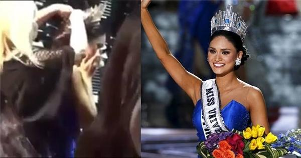 Đương kim Hoa hậu Hoàn vũ thế giới 2015 khóc trong hậu trường