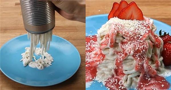 Cách làm mì ống kem lạnh ngon như trong phim
