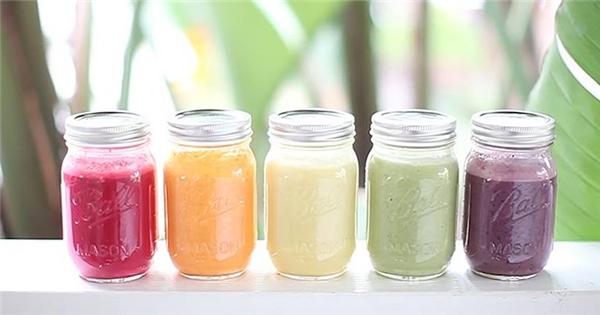 Bí quyết làm 5 loại sinh tố đầy sắc màu cho cả tuần tươi tắn