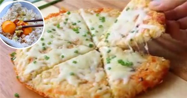 Hô biến bánh pizza từ cơm nguội cực ngon cực dễ làm