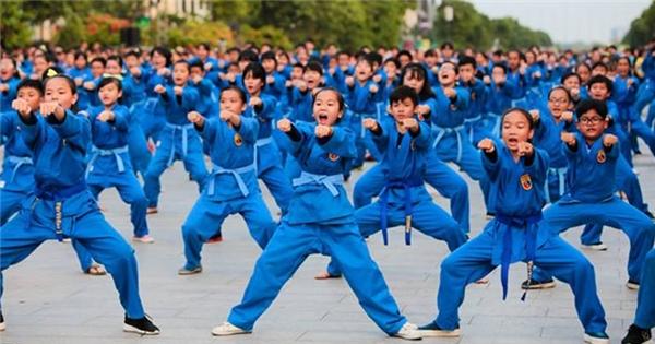 1000 người biểu diễn đánh võ Vovinam cùng Taekwondo ở phố đi bộ