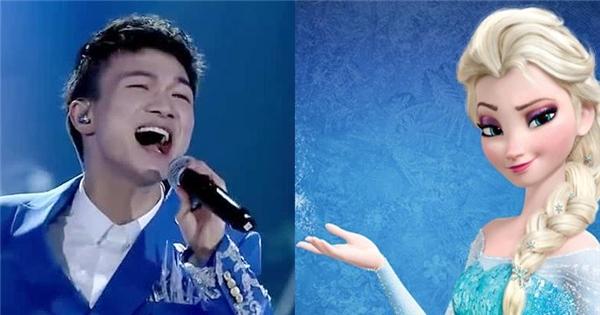 """Ca sĩ nam hát """"Let it go"""" bằng giọng nữ khiến khán giả sửng sốt"""