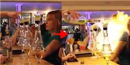 Sốc: Bartenderbất cẩn biến cô gái thành 'ngọn đuốc sống'
