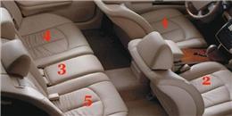 Đâu là vị trí an toàn nhất trên xe?