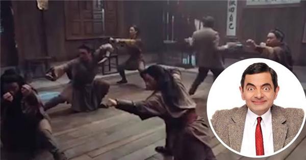 Té ngửa trước cảnh Mr.Bean học kungfu