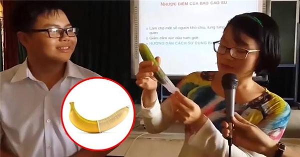 Dân mạng phấn khích với clip dạy sử dụng bao cao su cực khoa học
