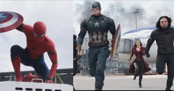 """""""Phát cuồng"""" với hình ảnh người nhện xuất hiện trong Captain America 3"""