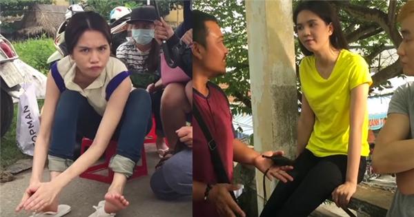 """Ngọc Trinh nhắng nhít siêu trẻ con trong hậu trường """"Vòng eo 56"""""""