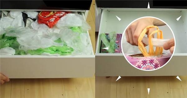 Cách giữ túi nhựa cũ siêu thông minh mà bạn cần biết