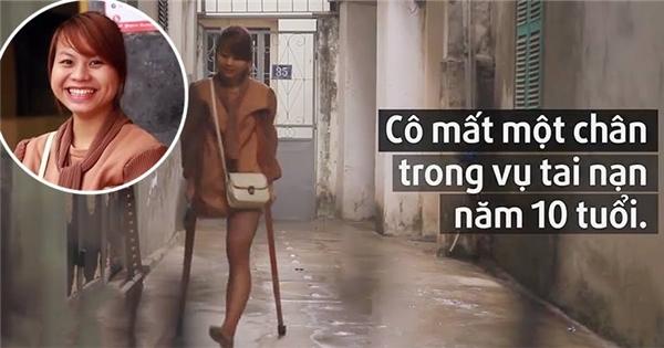 Cuộc sống của nữ sinh mất một chân khiến nhiều người nể phục