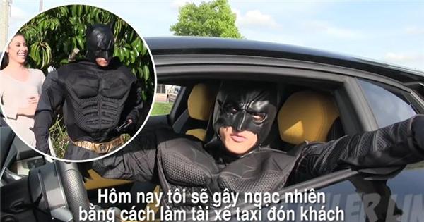 """Batman """"thất nghiệp"""", làm tài xế taxi xe siêu sang chảnh"""