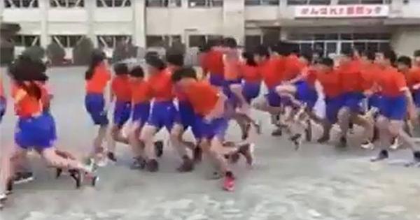 """Trẻ em Nhật lại gây """"sốc"""" với clip nhảy dây tập thể """"bá đạo"""""""
