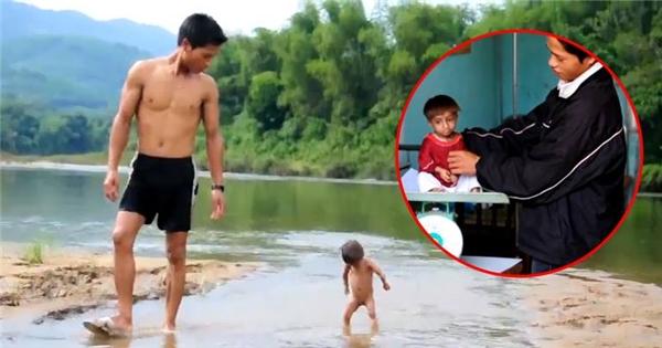 Đau lòng với bé tí hon 8 tuổi chỉ nặng 3,5kg tại Quàng Ngãi
