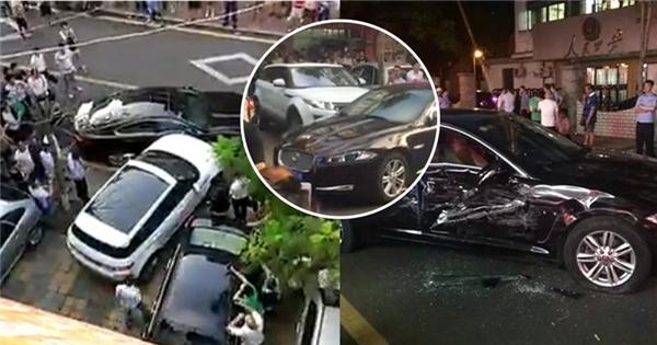 Cận cảnh nữ tài xế đâm nát siêu xe gây xôn xao dư luận