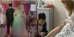 Váy cô dâu bốc cháy dữ dội vì một bất cẩn trong ngày cưới