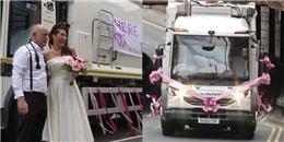 Ngả mũ với ý tưởng 'biến xe rác thành xe hoa' siêu độc đáo của cô dâu