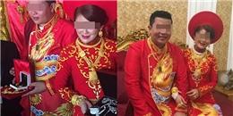 Đám cưới cặp đôi Việt gây choáng với của hồi môn nặng trĩu vàng