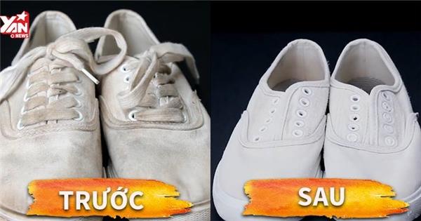 """Hỗn hợp """"kì diệu"""" giúp giày bạn trắng sáng như mới"""