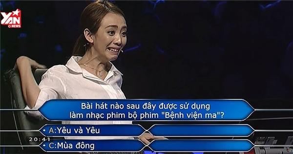 """Thu Trang muốn """"độn thổ"""" vì câu hỏi này trên """"Ai là triệu phú"""""""