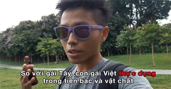 """Dân mạng """"khẩu chiến"""" vì vlog sự khác biệt giữa gái Tây và gái Việt"""